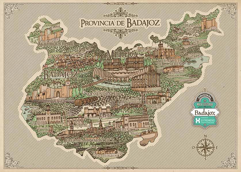 Mapa de Badajoz