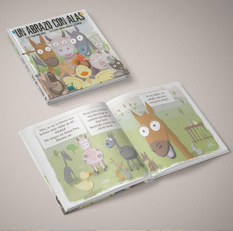 """libro Infantil """"Un abrazo con Alas"""""""
