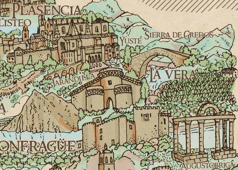 detalle de Mapa Cáceres de Extremeño