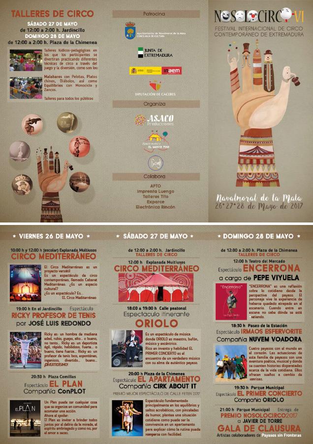 Folleto Festival Nosolocirco