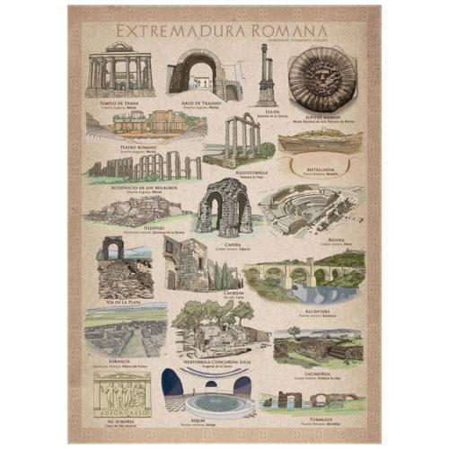 Poster Extremadura Romana