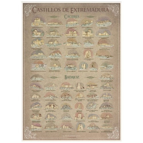 Poster castillos de Extremadura